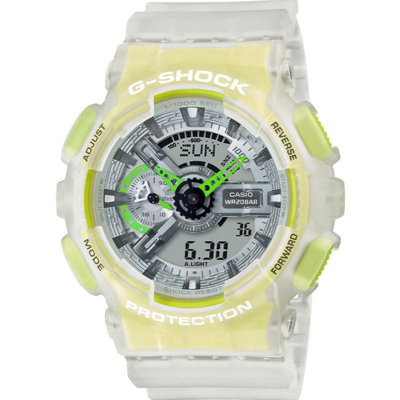New Casio G-Shock Analog-Digital Resin Strap Mens Watch GA110LS-7A