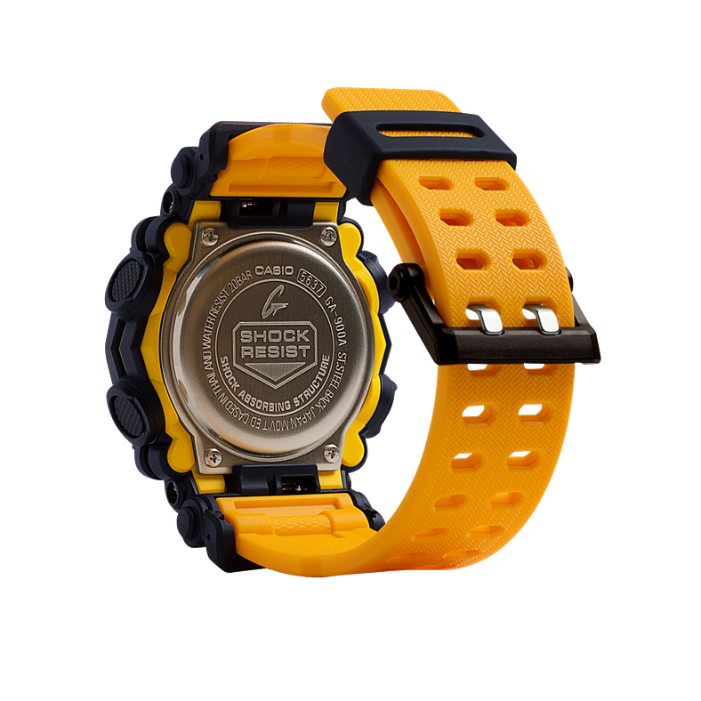 New Casio G-Shock Orange Resin Strap Men's Watch GA900A-1A9