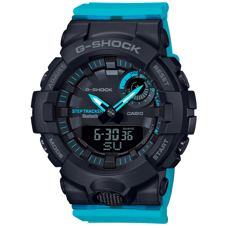 CASIO GMAB800SC-1A2 G-Shock Bluetooth Fitness Tracker Black Blue Women's Watch