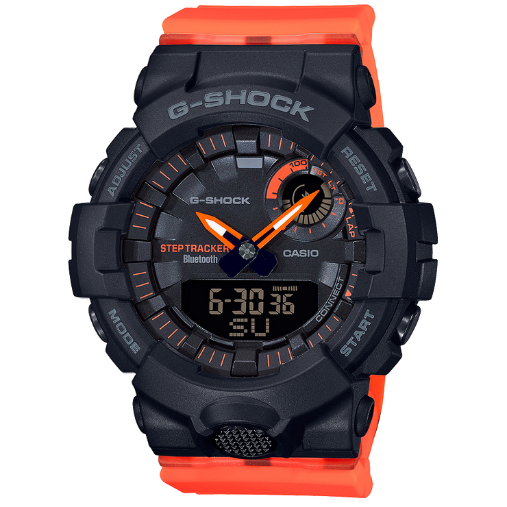 Casio G-Shock GMAB800SC1A4 Analog-Digital Watch Black Orange Watch