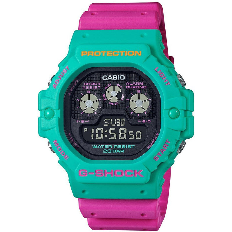 NEW GSHOCK DW5900DN-3D Psychedelic Multi Colors Green/Pink Resin Watch