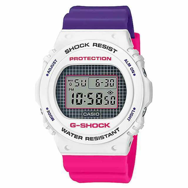 G-Shock Special Color Purple and Pink Resin Band DW5700THB-7D DW-5700THB-7D G-Shock Watchgalactic