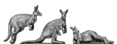 (100ANM12) Kangaroos- set of 3