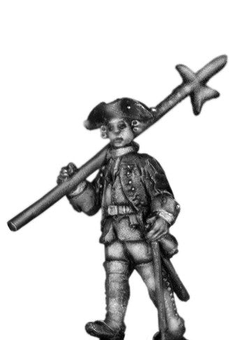 (100AOR104) 1756-63 Saxon Musketeer sgt., with halberd marching