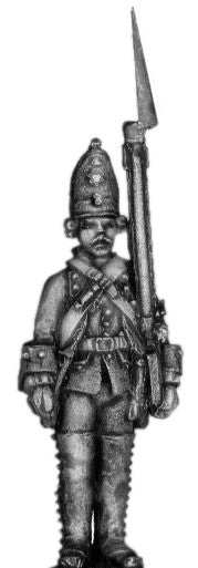 (100AOR115a) 1756-63 Saxon Guard Grenadier, at attention