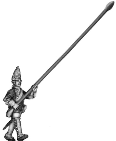 (100AOR117) 1756-63 Saxon Guard Grenadier Std. bearer, marching