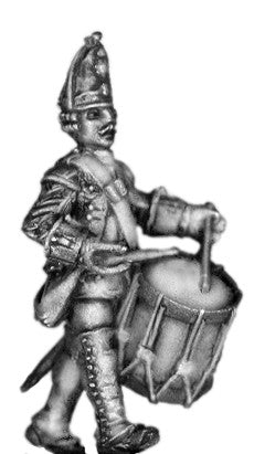 (100AOR118) 1756-63 Saxon Guard Grenadier Drummer, marching