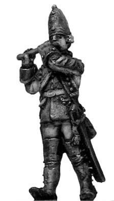 (100AOR129) 1756-63 Saxon Grenadier fifer, marching