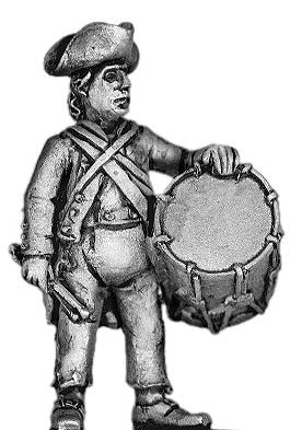 (100AOR013) AWI Ragged Continental Infantry Drummer