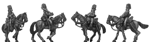 (100AOR157) 1756-63 Saxon Hussar in colpack,  walking