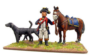 (100AOR030) George Washington with horse & dogs