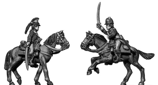 (100AOR035) Uniformed Continental Dragoon command at rest (3 figure set)