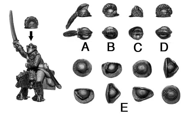 (100AOR041a) Dragoon helmet options