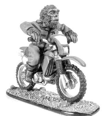 (100BSA11) Boiler Suit Ape on Motorbike