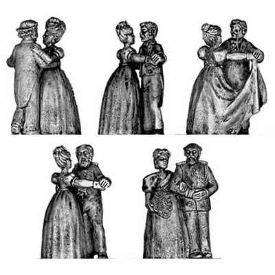 (100CIV12) Victorian Dancing Couples