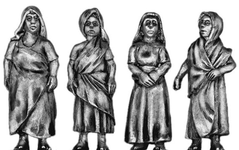 (100CIV24) Female Indian Civilian Set