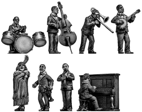 (100CIV34) Jazz Band & Dancers