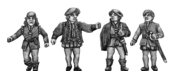 "(100CIV052) NEW Italian Renaissance thugs ""raffines"" 4 figure set"
