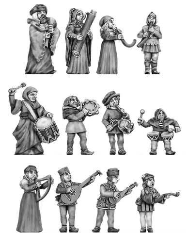 (100CIV60) NEW Medieval Band- 12 pieces