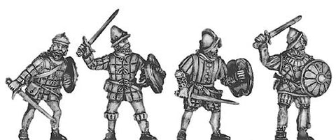 (100CON02) Conquistador Swordsmen in quilted armour