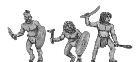 (100DEN004) Denisovan with hand weapons- 3 variants