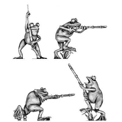 (100FRG01) Frogs with musket