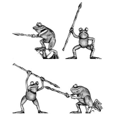 (100FRG02) Frogs with spears