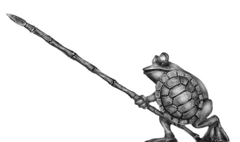 "(100FRG11) Frog, with pike ""advanced"" & turtle shell shield"
