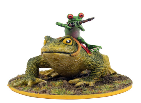 (100FRG23) Frog cavalryman on toad mount-assorted weapons