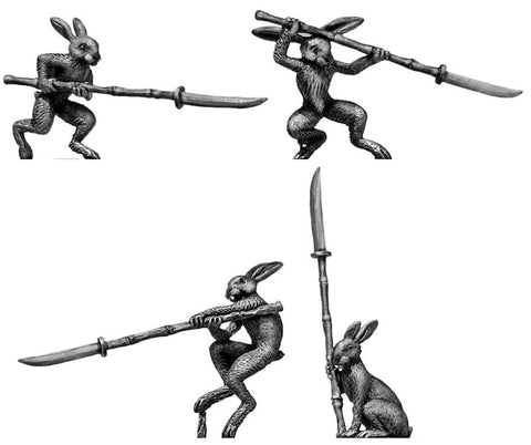 (100FRG50) Rabbit Ashigaru, with Naginata