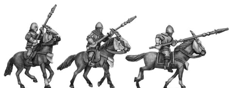(100MMH031) Kamarg cavalry with flamelance