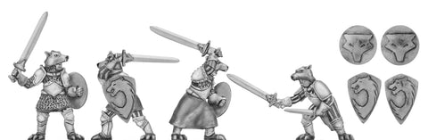 (100MMH105) Wolf Order warrior with broadsword