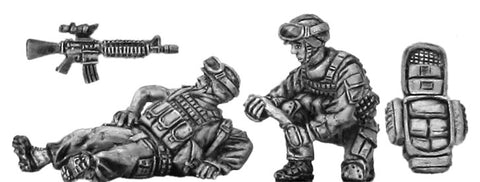 (100MOD064a) USMC Medic  & Casualty28mm