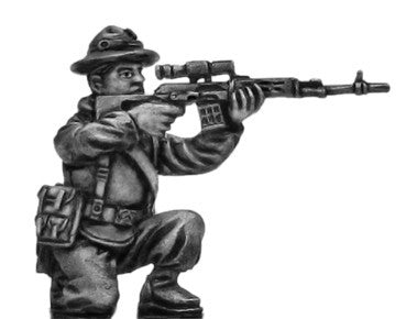 (100MOD257) Mechanized Infantry Sniper in boonie hat with SVD rifle