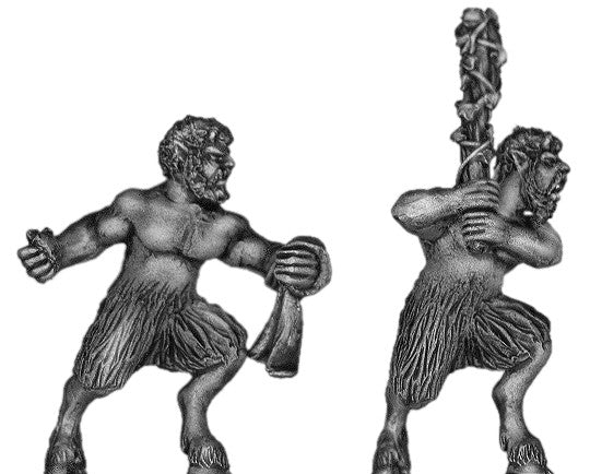 (100MYT11) Satyr with hand weapons
