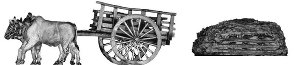 (100NAM20) Ox Cart with Thatch