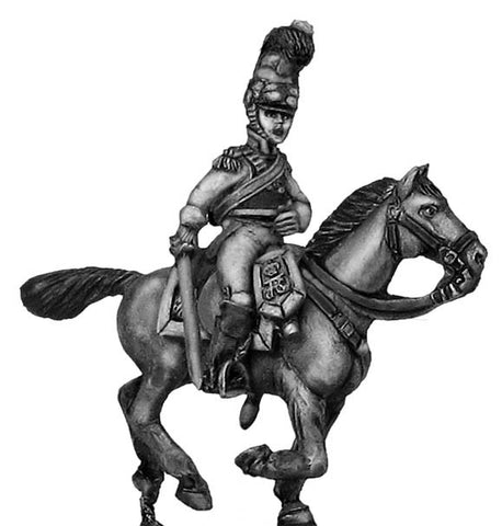 (100NAP22) Kurrassier-Regiment von Zastrow officer, charging