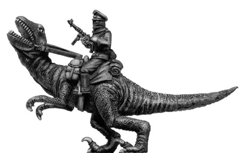 (100PLP20) German officer, riding Dinonicus