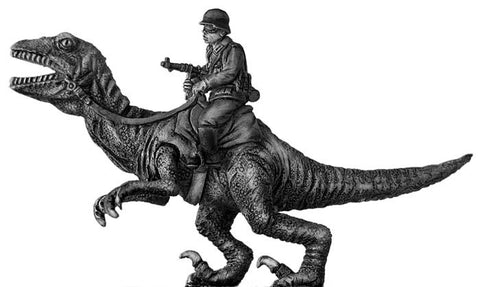 (100PLP21) German soldier, riding Dinonicus