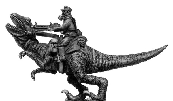(100PLP23) German soldier, riding Dinonicus