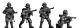 (100PLP40) Stormtroopers, Set 1, in gasmask, MP40 & MP44