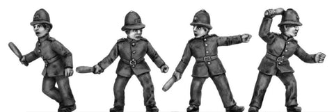 (100RBM004) Victorian Mounted Police on foot- charging 4 figure set