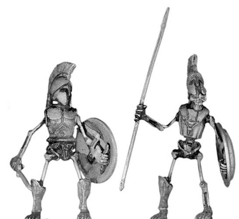 (100SKL02) Skeletal Greek Hoplite