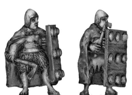 (100SUM04) Sumerian front rank axeman with cloak