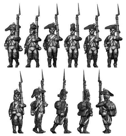 (100WFR002) Fusilier, bicorne, regulation uniform, marching