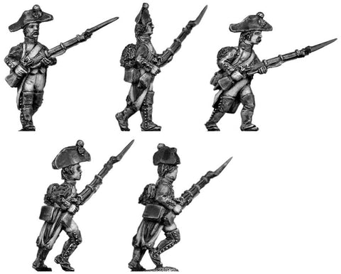 (100WFR004) Fusilier, bicorne, regulation uniform, advancing
