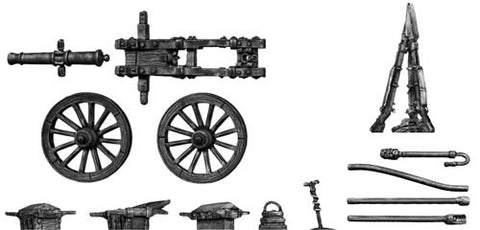 (100WFR100) French 4-pdr. gun, with equipment