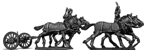 (100WFR123) Four horse limber, cantering, two civilian drivers