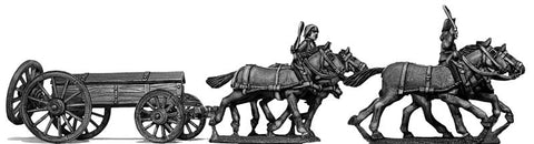 (100WFR127) Four horse caisson, cantering, two civilian drivers