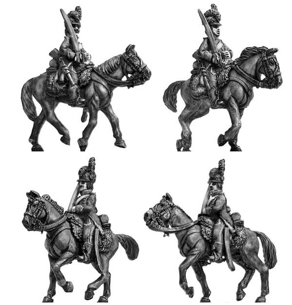(100WFR151) Chasseurs a Cheval, at rest, tailed surtout coat